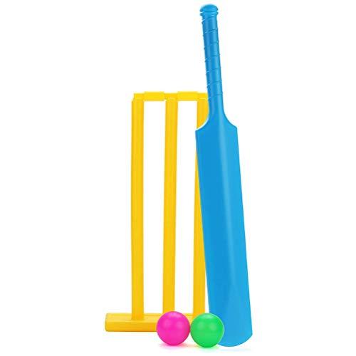 Ourine Kids Cricket Set, Backyard Cricket Sets NBR Foam Cricket Set Sports Kid Toy Indoor Outdoor Garden Play Ayuda a los niñ
