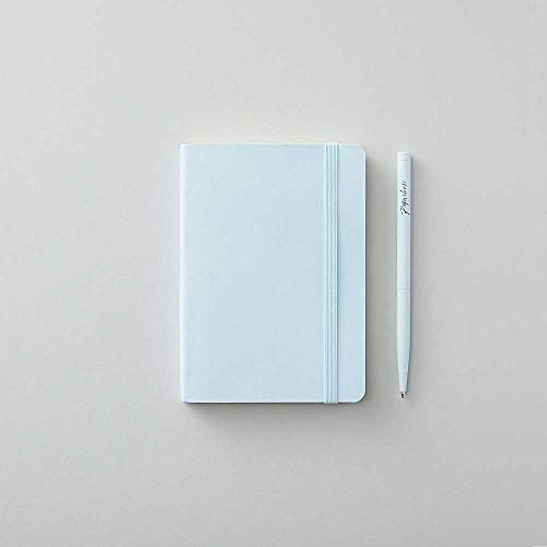 Agenzio zacht paviljoen blauwe stip klein notitieboek