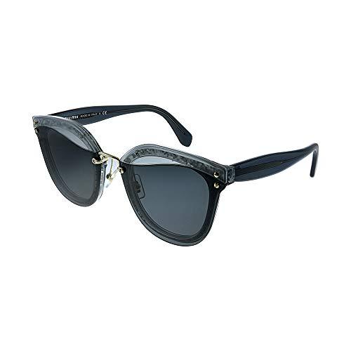 Miu Miu Damen 0Mu03Ts Ues5S0 65 Sonnenbrille, Grau (Transparent Grey/Glitter/Grey)