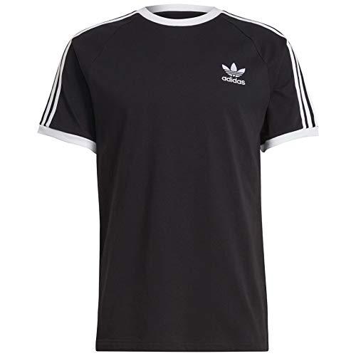 adidas Originals 3-Stripes tee Camisa, Negro, M para Hombre