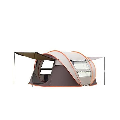 HYWY Bootszelt, Vollautomatische Schnellöffnung Campingzelt Sun Protection Shelter Großes Familienzelt, Einfache Installation Brown