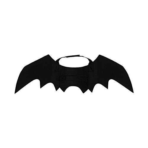LeKing--Alas de murciélago Mascota de Halloween, Disfraz de murciélago Cachorro Gato Negro (Bolso de OPP)