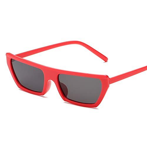 SHEANAON Gafas de Sol rectangulares para Mujer, Ojo de Gato, Montura pequeña para Mujer, Gafas de Sol Multicolor