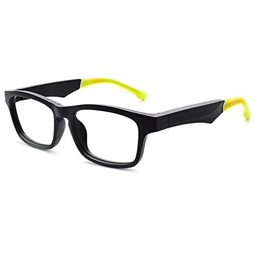 Bluetooth 5.0 Gafas inteligentes inalámbricas de audio y navegación de música, auriculares deportivos con luz azul gafas de llamada inteligentes (color: amarillo)