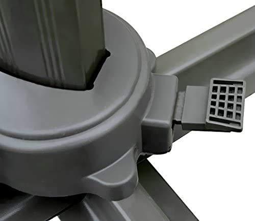 GARDENIA Roma Ombrellone Decentrato da Giardino 3x4 in Alluminio Richiudibile da Esterno Arredo Piscina, Scuro, Palo Marrone-Telo Ecrù, 3 x 4