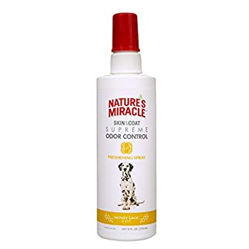 Nature's Miracle Skin & Coat Freshening Spray For Dogs Honey Sage Scent 8 Ounces