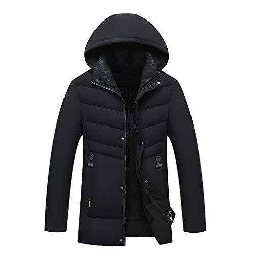serliy😛Winterjacke Herren Winterparka Outdoor Wintermantel Warme Parka Jacke mit Kapuze Baumwolle Jacke Gefütterte