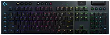 لوحة مفاتيح لوجيتك G915 لايت سبيد لاسلكية ميكانيكية، مفاتيح لاسلكية 2.4 جيجاهيرتز وبلوتوث RGB ، مفاتيح لمس منخفضة جي ال...