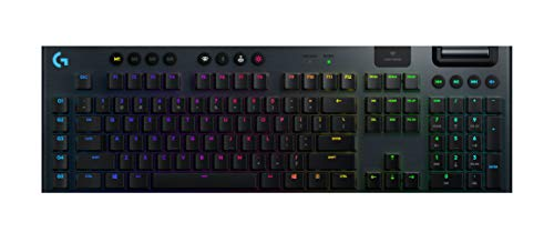 Logitech G915 LIGHTSPEED Draadloos Mechanisch Gaming Toetsenbord, LIGHTSYNC RGB, GL Tactile SWitches, Aluminium behuizing, QWERTY US International layout - Zwart