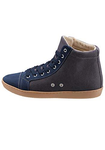 Eddie Bauer Mid Top Schuhe Zeitlose Damen Schuhe im Jeans-Look Freizeit-Schuhe Turn-Schuhe Blau, Größe:37