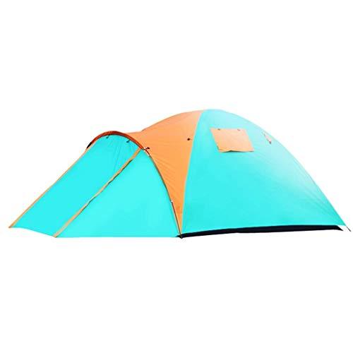 BRFDC Tienda De Campaña Al Aire Libre Carpa for Camping 3-4 Persona Doble Capa Impermeable Protección UV Tienda De La Bóveda