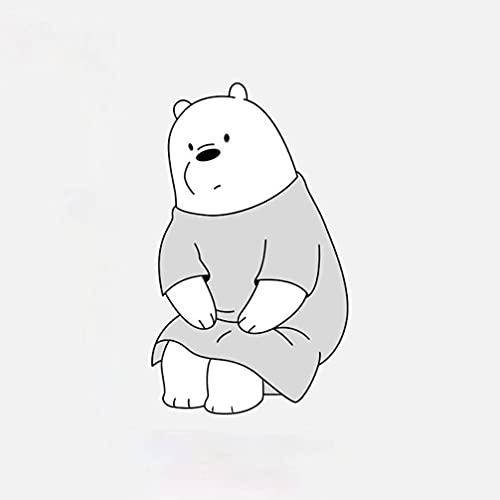 ZG Tablero de fieltro con diseño creativo de tres osos para jardín de infancia, pegatinas tridimensionales de pared, tablero de corcho, decoración de pared de dibujos animados