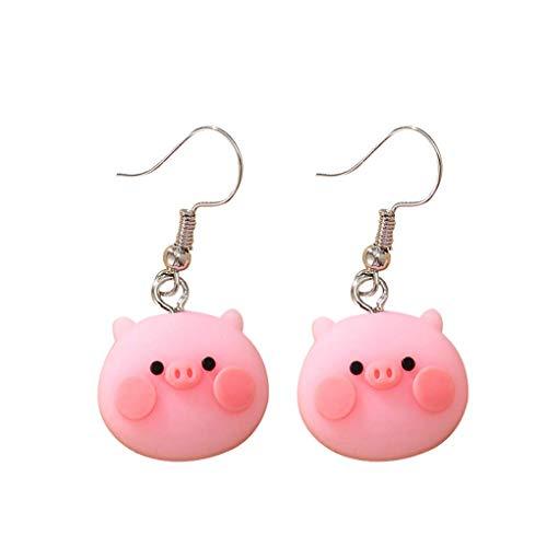 Earring Animal Shape Ear Stud Metal Plastic Eardrop Jewelry Decoration Gift for Home Party