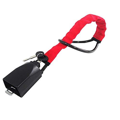 Barra Antirrobo Coche Cerradura anti Robo de automóvil Cerradura de acero del volante para el cinturón de seguridad de la cinta de seguridad Captura de bloqueo antirrobo con 2 llaves Dispositivos de b