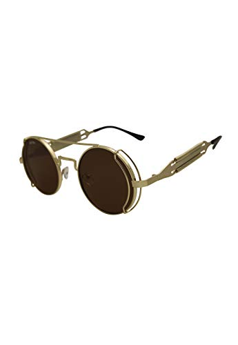 Óculos de sol Fiction Grungetteria AdultoUnissex Dourado Único