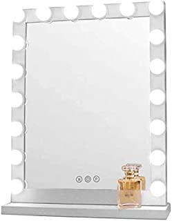 Daily Necessities Hollywood Makeup Vanity Mirror with Light Bulbs   Large Illuminated Makeup Mirror with 18 Dimmable Bulbs   Bathroom Shaving Mirror   Cosmetic Mirror   White Decorative Mirror