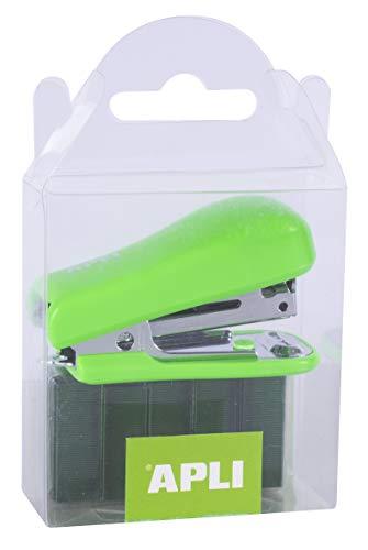 APLI 14942: Grapadora Pocket verde   2.000