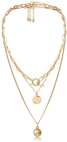 Collana Punk Gothic Lariat Bead Pendant Collana girocollo Donna Wedding Vintage Portrait Coin Gold Color Collana a catena lunga Gioielli