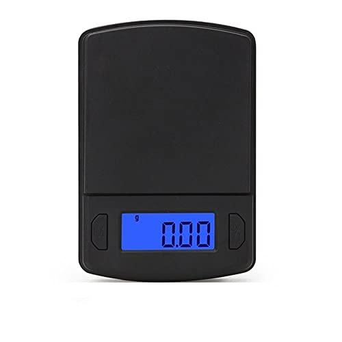 Alta precisión 500/300/200 / 100g 0.01g mini balanza digital Joyas Oro Balance de peso Gramo LCD Ponderación de bolsillo Básculas electrónicas500g_0.1g