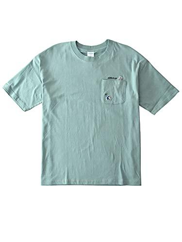 (アルージェ) ARUGE I'mドラえもん 半袖Tシャツ メンズ 綿 ポケット付 秘密道具 正規品 / B1O / L 55ブルーグリーン:暗記パン
