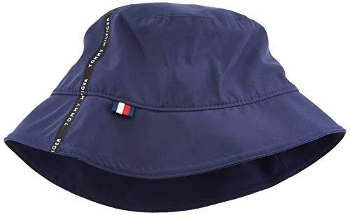 Tommy Hilfiger Herren Tape Bucket HAT Baseball Cap, Blau (Blue Quartz 901), One Size (Herstellergröße:OS)