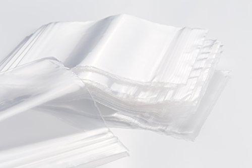 Sachets Zip transparent - Lot de 1000 (10 x100 sachets) - épaisseur 50 microns - Haute qualité - tailles au choix (80mm x 120mm)
