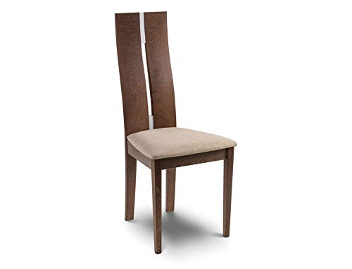 Julian Bowen Cayman Set of 2 Dining Chairs, Walnut