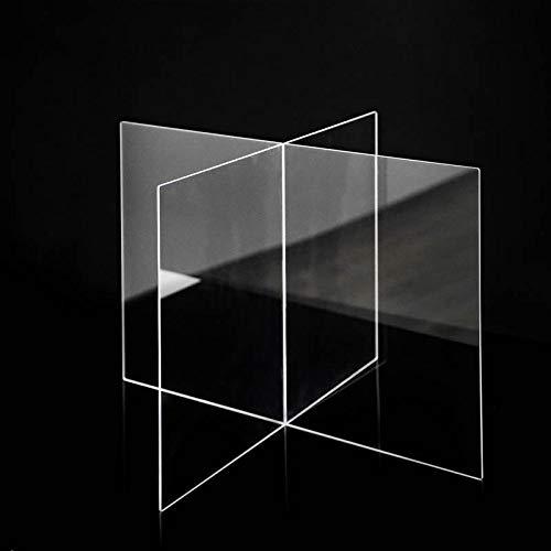 Mamparas Modulares | Metacrilato | 2 Piezas de 90 x 60 cm | Transparente | Modelo Ibiza 2 | Para Hostelería | Separación de Espacios y Mesas | Automontable