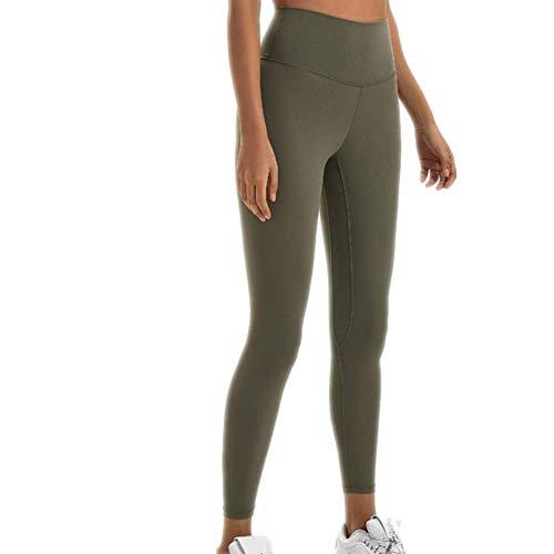 A/N Herbst- und Winter-Damenhose Doppelseitiges Schleifen Nackte Yogahosen Hüfte Hohe Taille Sport Fitness Neun-Punkt-Hose Sport Fitness Hose