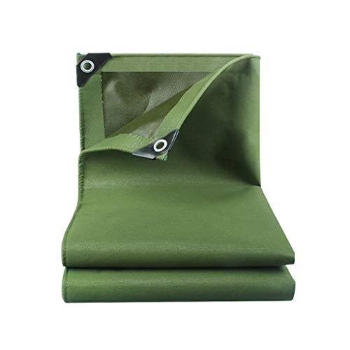 Bâche Double Imperméable À l'eau en Plein Air Résistant Drap De Couverture Couverture De Toile Bâches Tente Parasol FENGMING (Couleur : Vert, Taille : 6 * 6m)