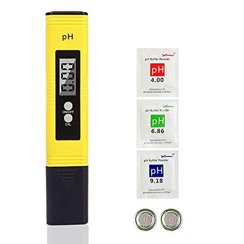 PH Tester Misuratore Digitale, LIUMY Multi Funzione Digital PH Tester/Portatile PH test/per Idroponica Piscina Acquario,ecc.