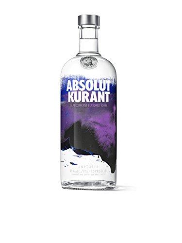 Absolut Kurant – Absolut Vodka mit schwedischer Johannisbeere – Schwedischer Klassiker - ideal für Cocktails und Longdrinks – 1 x 1 L