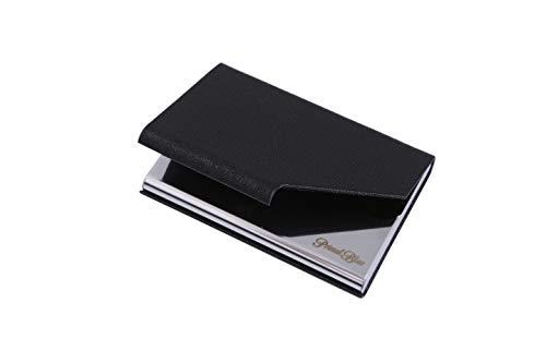 [PrimalBlue]名刺入れ 名刺ケース ビジネス メンズ レディース 兼用 ステンレス カードファイル 名刺が折れない プレゼント (黒)