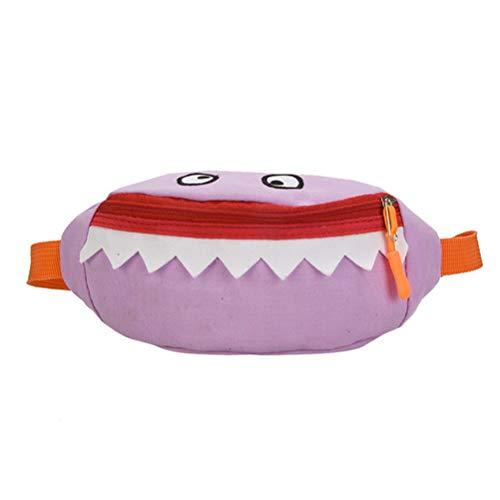 Vssictor Fanny Pack Sac banane poche poitrine réglable pour hommes femmes enfants mignon Cartoon Shark poche poitrine pour garçon fille bébé pour voyage randonnée course sport de plein air