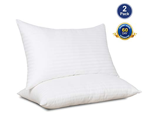 SWTMERRY- Bed Pillows for Sleeping 2 Pack Queen Hypoallergenic | Cooling Gel Pillows Queen Size | Down Alternative Pillows Queen Soft | Hotel Luxury Reserve Collection Pillow, White