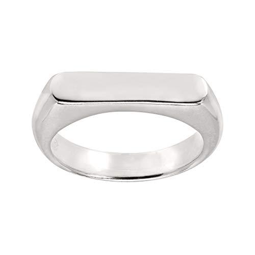 Silpada 'Big Idea' Flat-Top Ring in Sterling Silver, Size 11