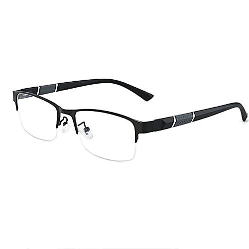 Gafas De Sol Fotocromáticas Inteligentes para Hombres Y Mujeres Cómodas Gafas De Lectura Ligeras con Bisagra De Resorte Anteojos De Lectura Interiores Exteriores,Negro,+1.50