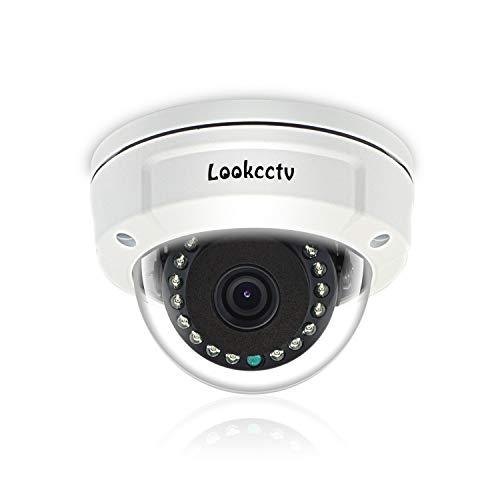 lookcctv 3.6mm Objektiv Sicherheit IP Kamera, 4MP POE IP Dome Kamera, Heimüberwachung Indoor Netzwerk CCTV Kameras, P2P Cloud, Bewegungserkennung, Nachtsicht
