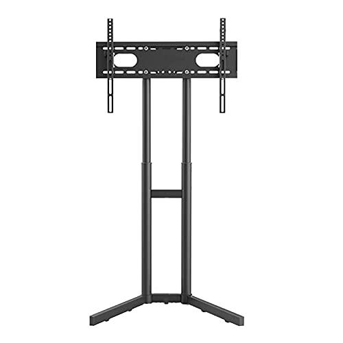 N/Z Home Equipment Soporte de Suelo para TV 32 Pantallas Planas Curvas de 65 Pulgadas Gestión de Cables/MAX VESA 60 * 40Cm / Altura Ajustable/Pies de Goma Antideslizantes (Acero Laminado en frío)