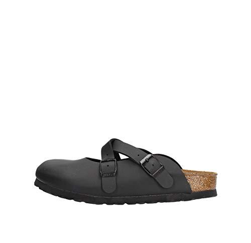 Birkenstock Dorian BS 23303 Black Nero Ciabatta Zoccolo Donna Fibbie Incrocio 36