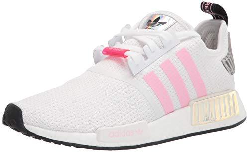 adidas Originals womens Nmd_r1 Sneaker, White/True Pink/Vivid Red, 8 US