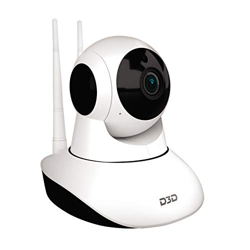 D3D Full HD CCTV 2MP (1920x1080) p WiFi Wireless IP Home Security Camera CCTV (Supports Upto 128 GB SD Card) [Model-8810] White Camera (White)