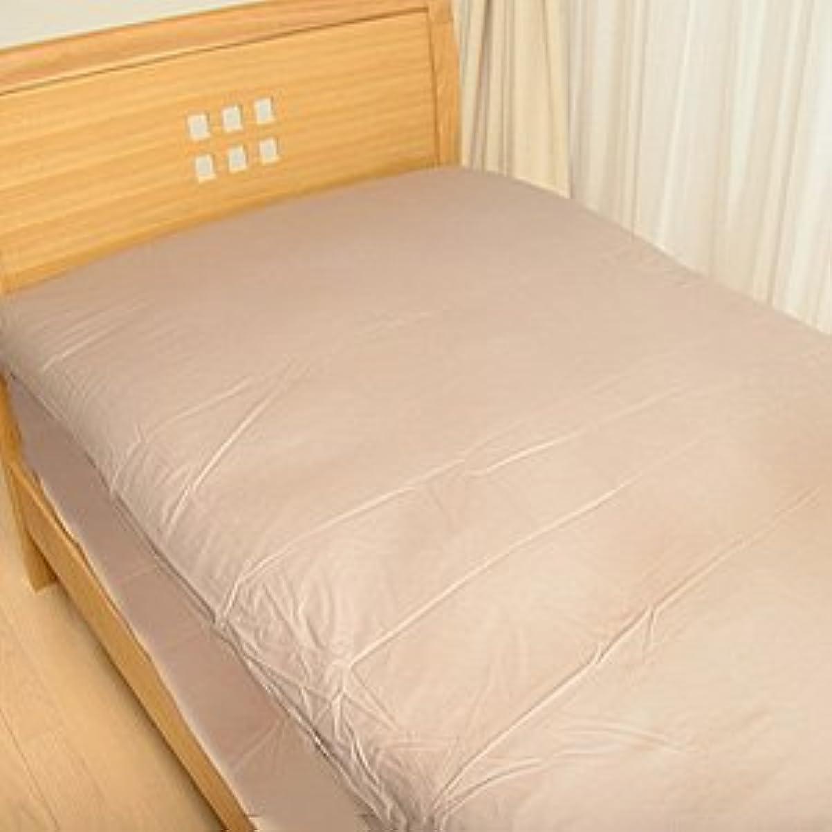 空虚起こりやすい尊敬アレルガード カバーリング 防ダニ ベッド用ボックスシーツ セミダブルサイズ* (ブラウン)