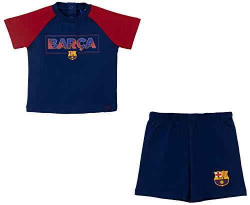 FC Barcelona - Camiseta y pantalón corto para bebé, colección oficial de 3 meses