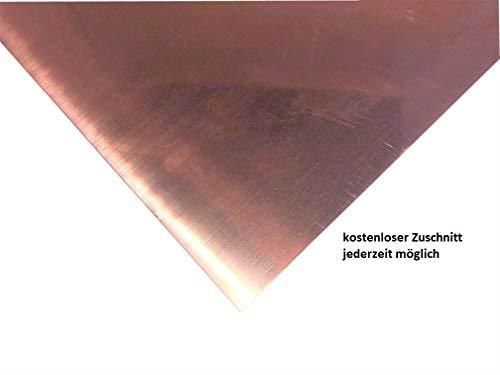 0,6mm Kupferblech Kupfer Blech Länge frei wählbar Zuschnitt kostenlos (500x500mm)