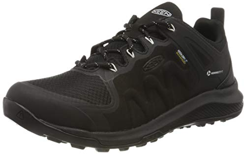 KEEN Damen Explore Waterproof Wanderschuh, Schwarz Star White, 38 EU