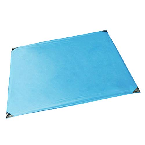 N/ Picnic Mat Portable Pocket Beach Blanket Tent Mat With Ground Spikes For Beach Hiking Trip Camping-Blue_150X180 Cm