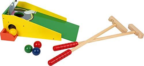 """small foot 8177 Minigolf """"Maulwurf"""" aus buntem Holz, mit zwei Schlägern und vier bunten Bällen, ab 5 Jahren"""