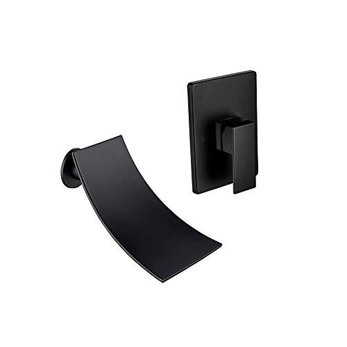 (agua) grifo; grifo; Bibcock estilo europeo creativo negro oculto caliente y frío encima del lavabo de la cascada grifo empotrado caja grifo en la pared