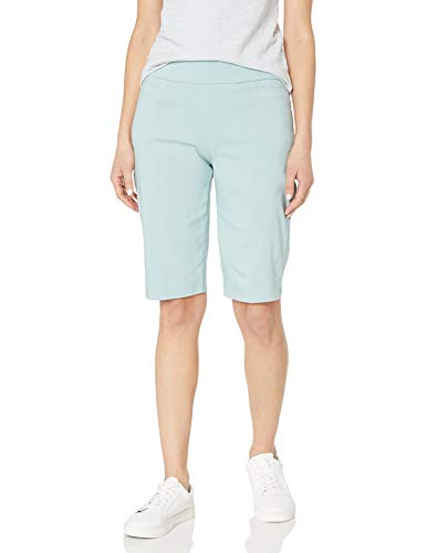 Briggs New York Damen Women's Super Stretch Millennium Pull On Skimmer Bermuda Shorts, Sea Glass, 44